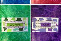 École couverture cahier etiquettes