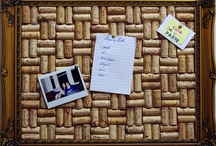 Wine Corks Notice Boards / An original and charming twist to the old useful pin board! Made with recycled wine corks which are displayed to show their genuine wine stains. Bespoke options also available.