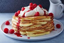 Sweet Pancake Toppings for Shrove Tuesday / Whether classic lemon and sugar or a more adventurous whipped cream and raspberry, all of these pancake toppings are super sweet ways to celebrate Pancake Day.  / by Tesco Food