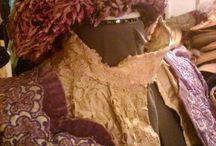 1900 Gown Restoration Project / A red violet gown came into my life that begged me to restore it. It's a designer dress complete with original petersham label. Then a French Chapeau from the same era--and the same shade of red violet came to live with me. This is their story.