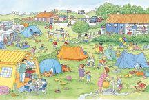 thema zomer - vakantie - kamperen