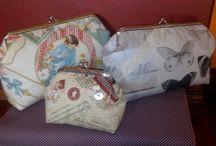 Bolsas e Bolsinhas / Bolsas, Porta-moedas, Carteiras, Sacos, Pochet's, ..., peças feitas em tecido.