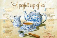 Tea for Two (or three, or four...) / tea pots, tea cozies, tea cups, brew pots, steeping...