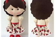 feltro boneca
