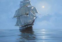 Море...парусник... / Море, маяк, парус, яхта