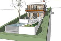 modern residential landscape