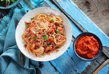Pikantné špagety s krevetami