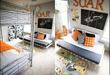 JTE  / Cool items to pull together a sports themed bedroom for an 8 year old  / by Alissa Eisenman Johnston