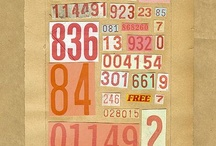 » Typography / A board consisting of typography in different styles and from different eras.