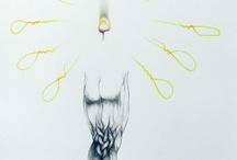 Judith  Mason pen drawings