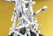 Kolmiulotteisia veistoksia paperista