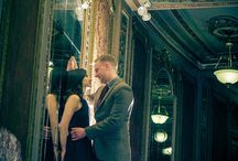 Unique Engagement Photos at Historic Lowes Theatre in Jersey City