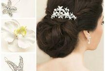 Beach Bridal Hair Accessories / Bridal hair combs, clips hair pins, headbands and hair flowers for your beach or destination wedding.