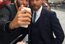 Tom on blue carpet for Legend premiere