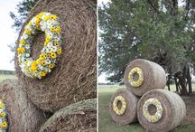 Wedding Wreaths / Wreaths are a perfect way to add flowers in unexpected places.