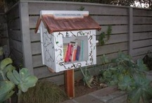 Little free Library Houses.