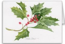 Watercolours Xmas