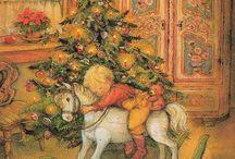 Рождество акварель