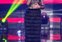 Karolina Gocheva wearing Isabel Garcia dress /  Karolina Gocheva, a famous singer who represented Macedonia at Eurovision twice. Karolina was wearing Isabel Garcia Autumn-Winter 2014 stylish black slinky dress and looks fabulous at Metropolis Arena on Competition entries of Macedonia for Eurovision Song Contest 2015. Soon you will be able to order this gorgeous dress online!