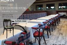 Project: Restaurant C&S Chowder House, USA / Keca International presents the project of the month: Restaurant C&S Chowder House, with our customized wooden chair BW-6155-USB. The perfect model for your restaurant project, to add some classic vibes and a bold twist whit our big range of leathers and fabrics to play with, and make the chair for your one of a kind restaurant.
