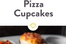 Pizza-cupcakes