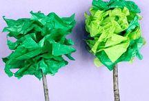 Blomsterpapirblomster