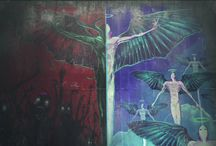 Denenecek Projeler / DMC Angels and Demons wall grafitti
