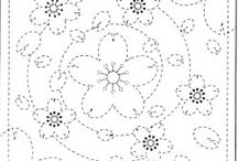 sashico y patrones bordados