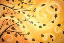 Autumn painting ideas