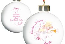 Personalised Christmas Baubles / These Christmas Baubles can be personalised for your little ones.