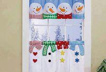 cortina navideña