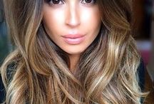 Hair goals / Balayage/Ombre Hair Color for Brunetes with Brown, Chocolate, Caramel Highlights.