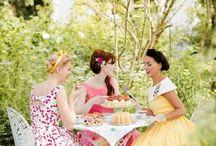 Feste con tè in giardino
