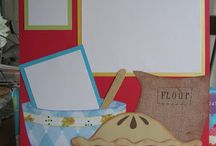 cooking and recipe scrapbook pages