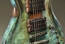 Teal music instruments