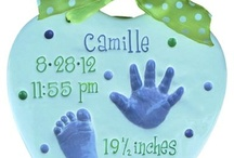 Ceramic Keepsakes - Birth Plaques / These are birth plaques created for children 3-4 months and under! It includes all their birth information and is a wonderful way to cherish your baby's announcement to the world!