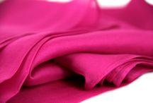 Etole en soie rose