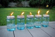 tiki torch and off candles
