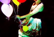 We all float... / Melissa Meow and her balloons.