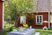 Nordic tradition / Nordic red, Swedish and Finnish traditional living. Rödmylla, rödfärg, faluröd, italiensk röd, italian punainen, punamulta.