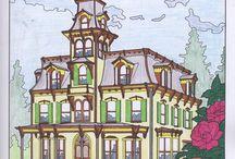 Huizen met kleurvoorbeelden