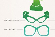 Types of glasses' frames
