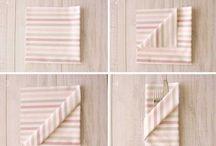Servilletas / Colección de servilletas elegantes y refinadas para dar esplendor a tus banquetes. Confeccionados a base de materiales naturales como  el algodón o el hilo, estos accesorios son imprescindibles para acompañar a tus platos.