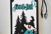 Kort med gnomer/nisser / Juletag