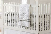 Neutral Nursery / We chose not the find out the gender of our baby so we designed the perfect neutral nursery in white, gray and khaki.