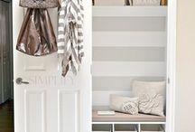 hall closet-->mudroom