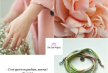 Moodboards / Mood-boards & Zen inspiration for happy days. Silk wrap bracelets designed by us.