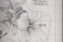 Haft kwiaty i owady