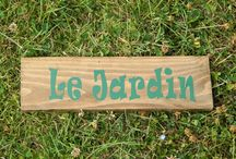 Garden signs, wooden signs, pallet sign