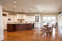 Kitchen + Great Room / Ideas for our custom home's Kitchen and Great Room.